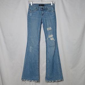 JET John Eshaya Women's Flare Leg Destroyed Jeans